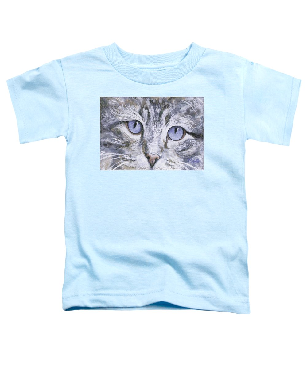 Charity Toddler T-Shirt featuring the painting Bisous by Mary-Lee Sanders