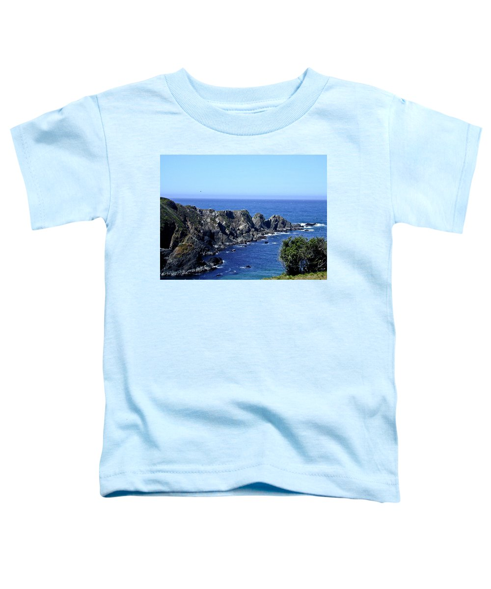 Blue Toddler T-Shirt featuring the photograph Blue Pacific by Douglas Barnett