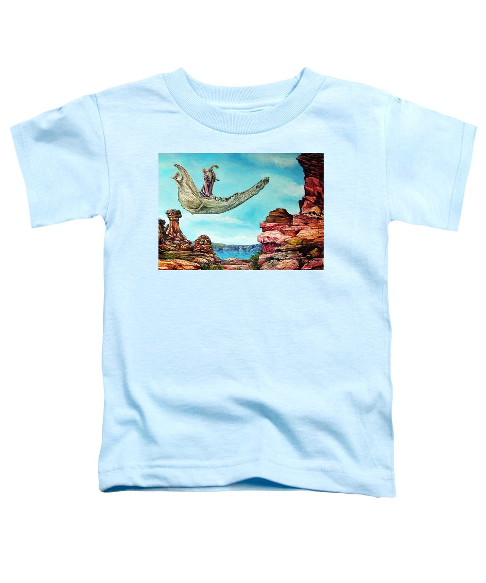 Painting Toddler T-Shirt featuring the painting Bogomils Journey by Otto Rapp