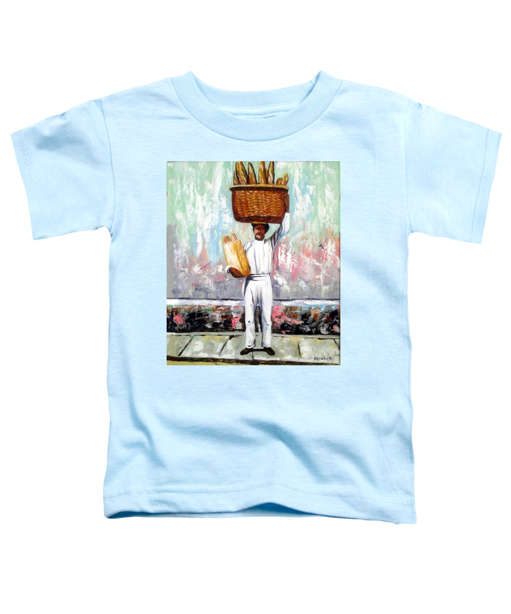 Bread Toddler T-Shirt featuring the painting Breadman by Jose Manuel Abraham
