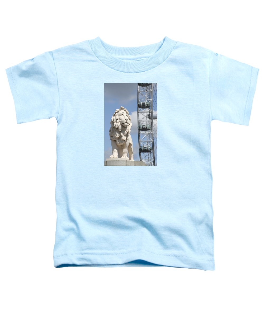 Lion Toddler T-Shirt featuring the photograph Britannia Lion by Margie Wildblood