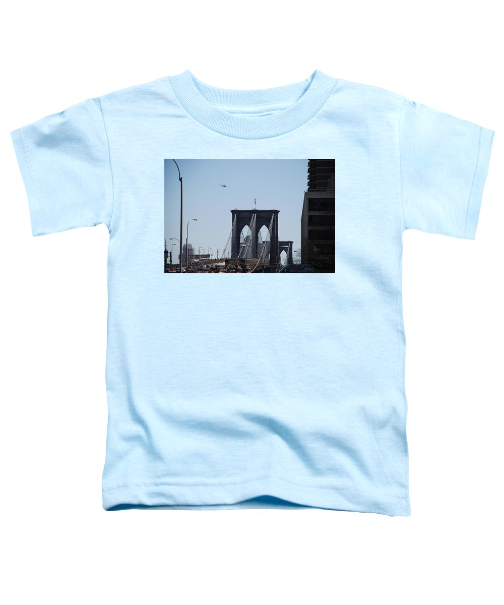Architecture Toddler T-Shirt featuring the photograph Brooklyn Bridge by Rob Hans