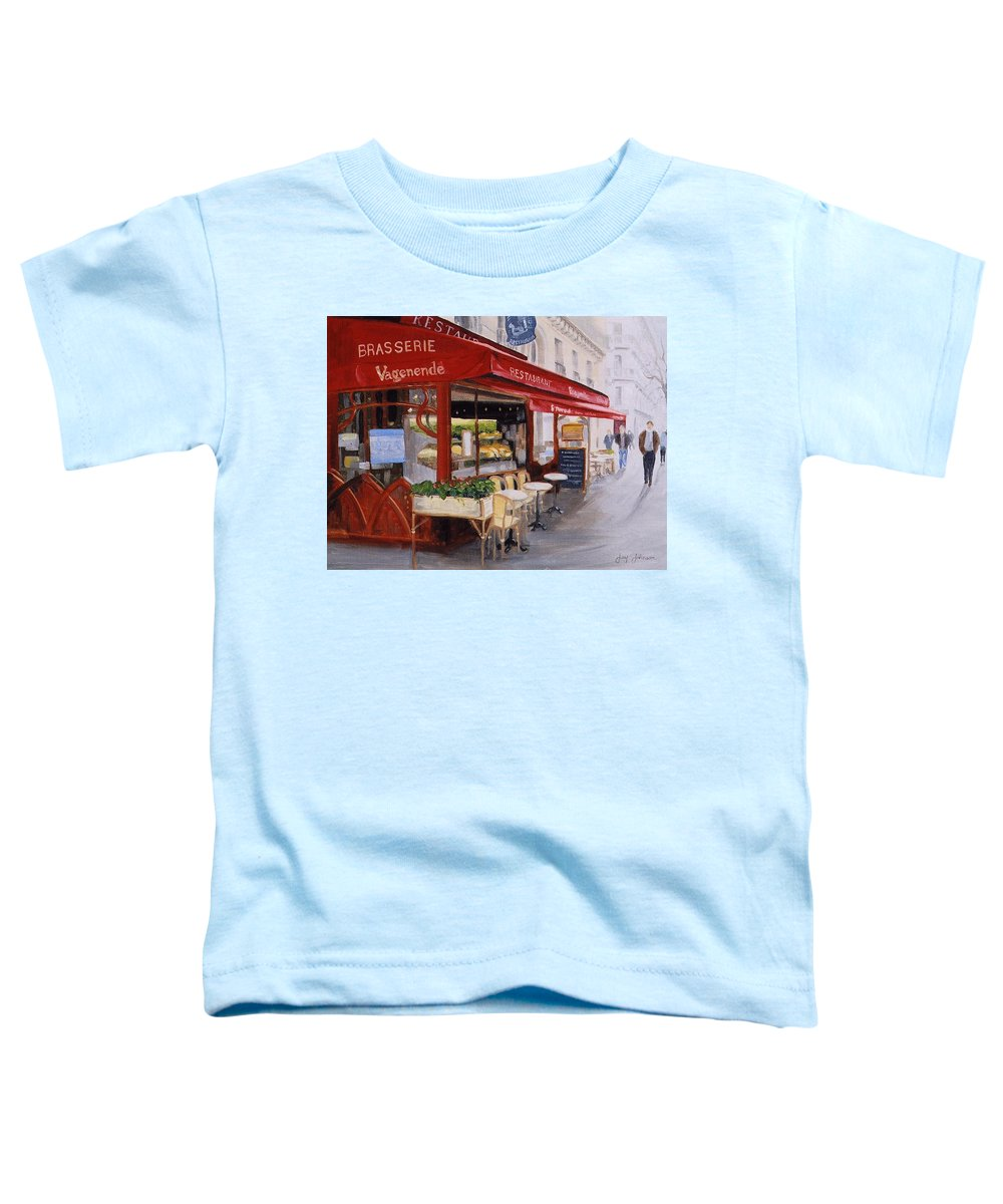 Cafe Toddler T-Shirt featuring the painting Cafe 4 by Jay Johnson