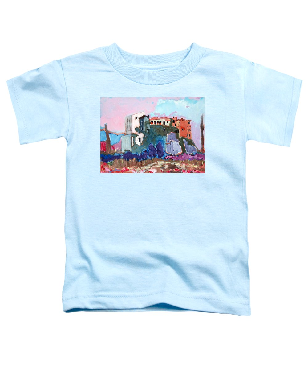 Castle Toddler T-Shirt featuring the painting Castello by Kurt Hausmann