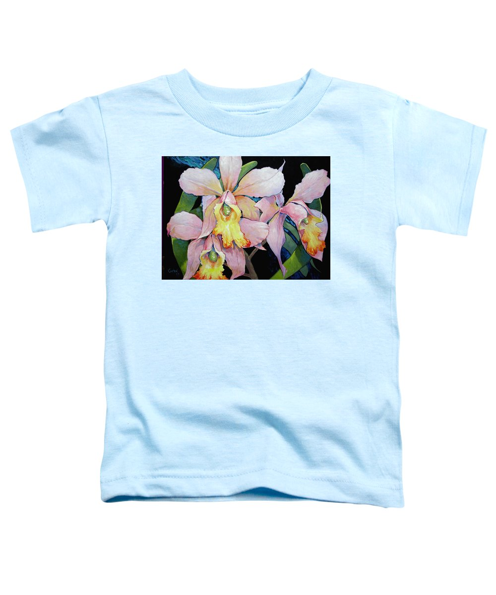 Catalya Toddler T-Shirt featuring the painting Catalya Arrangement by Jerrold Carton