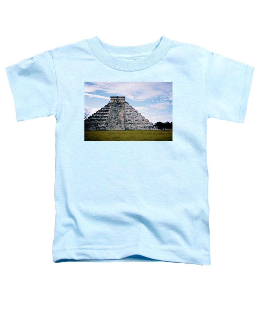 Chitchen Itza Toddler T-Shirt featuring the photograph Chichen Itza 4 by Anita Burgermeister