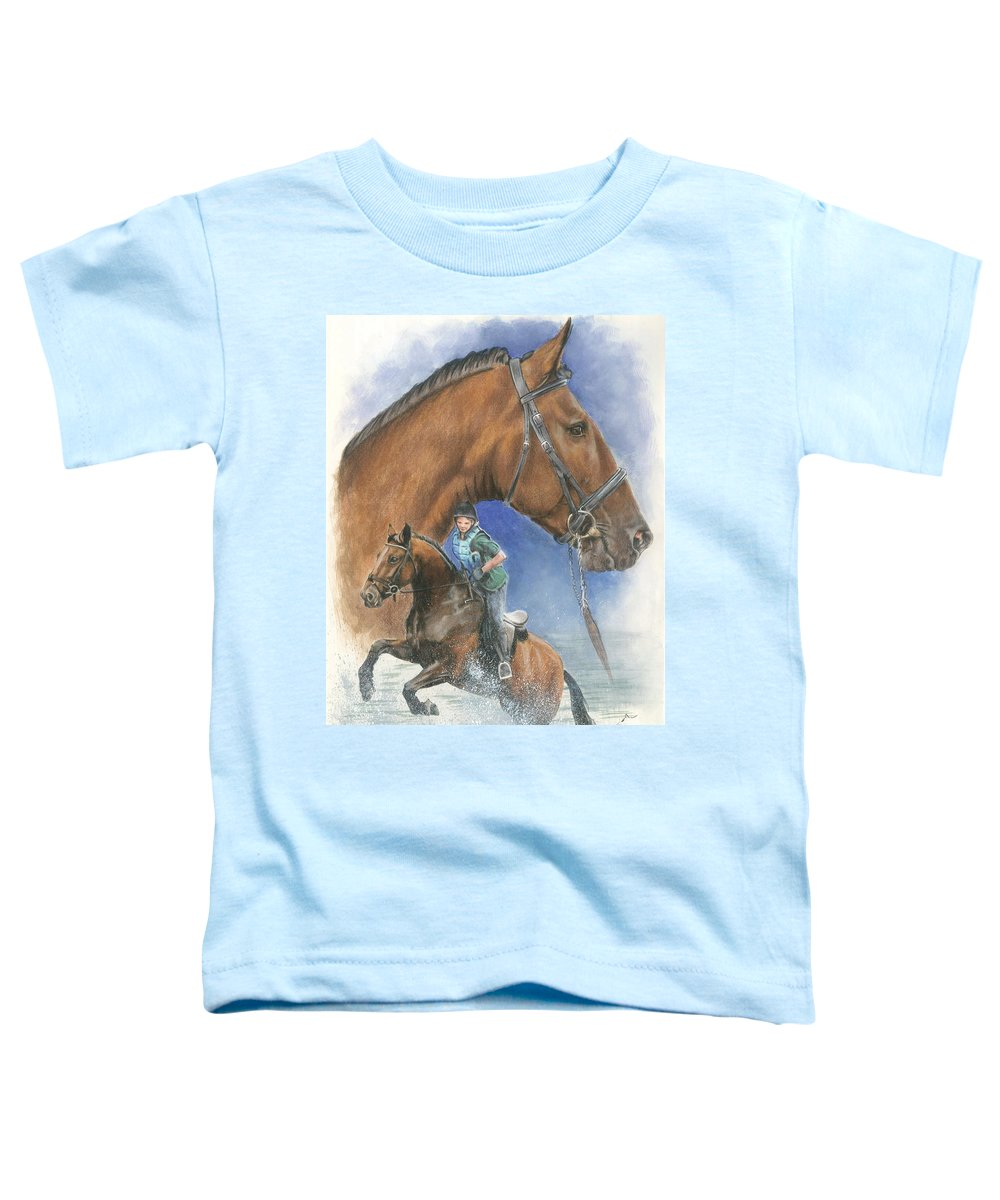 Equus Toddler T-Shirt featuring the mixed media Cleveland Bay by Barbara Keith