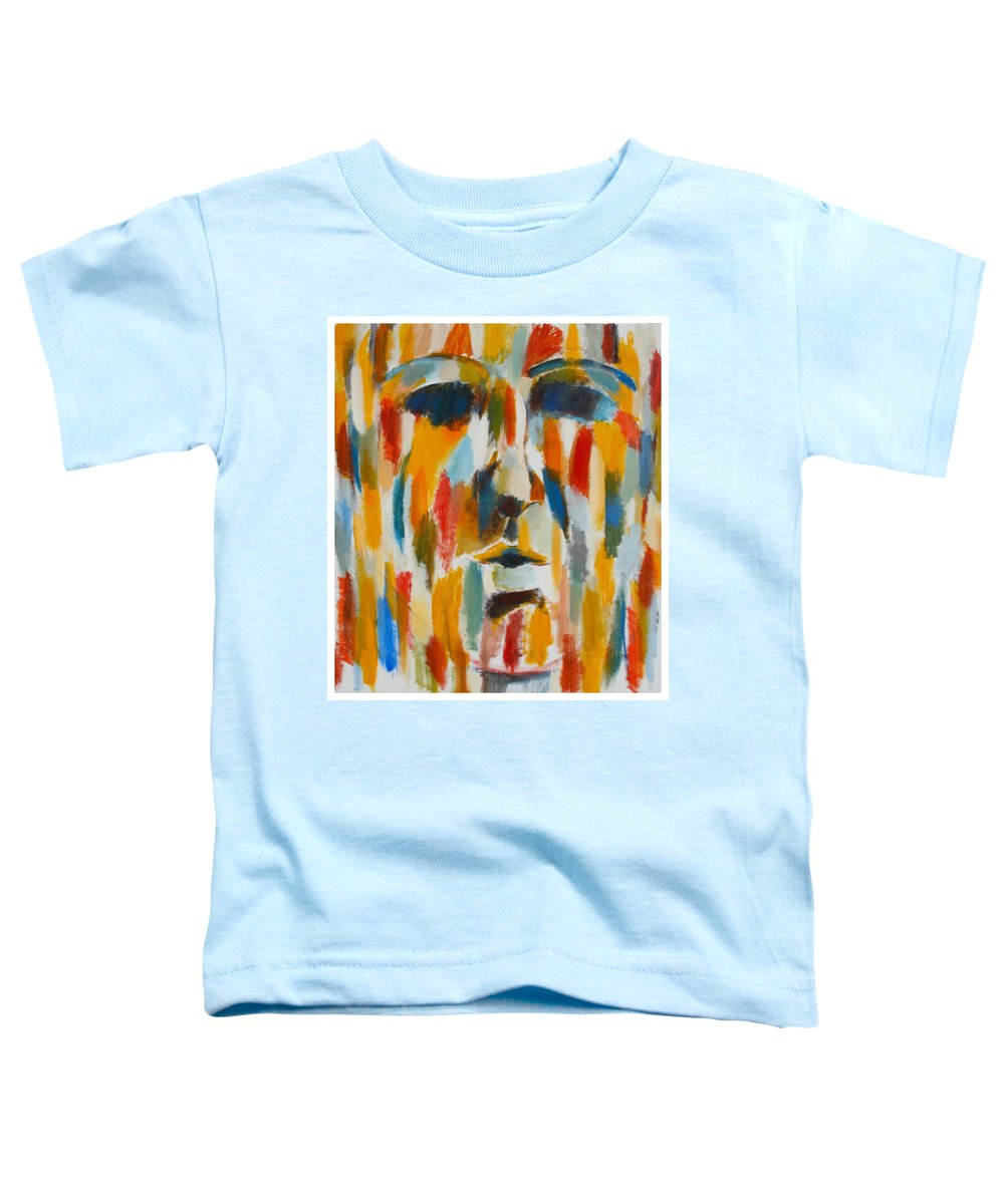 Yellow Toddler T-Shirt featuring the painting Color Blind by Habib Ayat