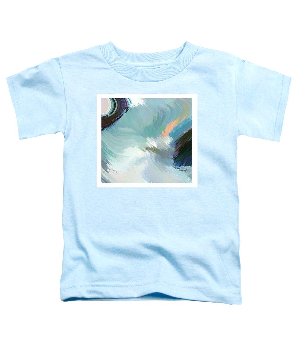 Landscape Digital Art Toddler T-Shirt featuring the digital art Color Falls by Anil Nene