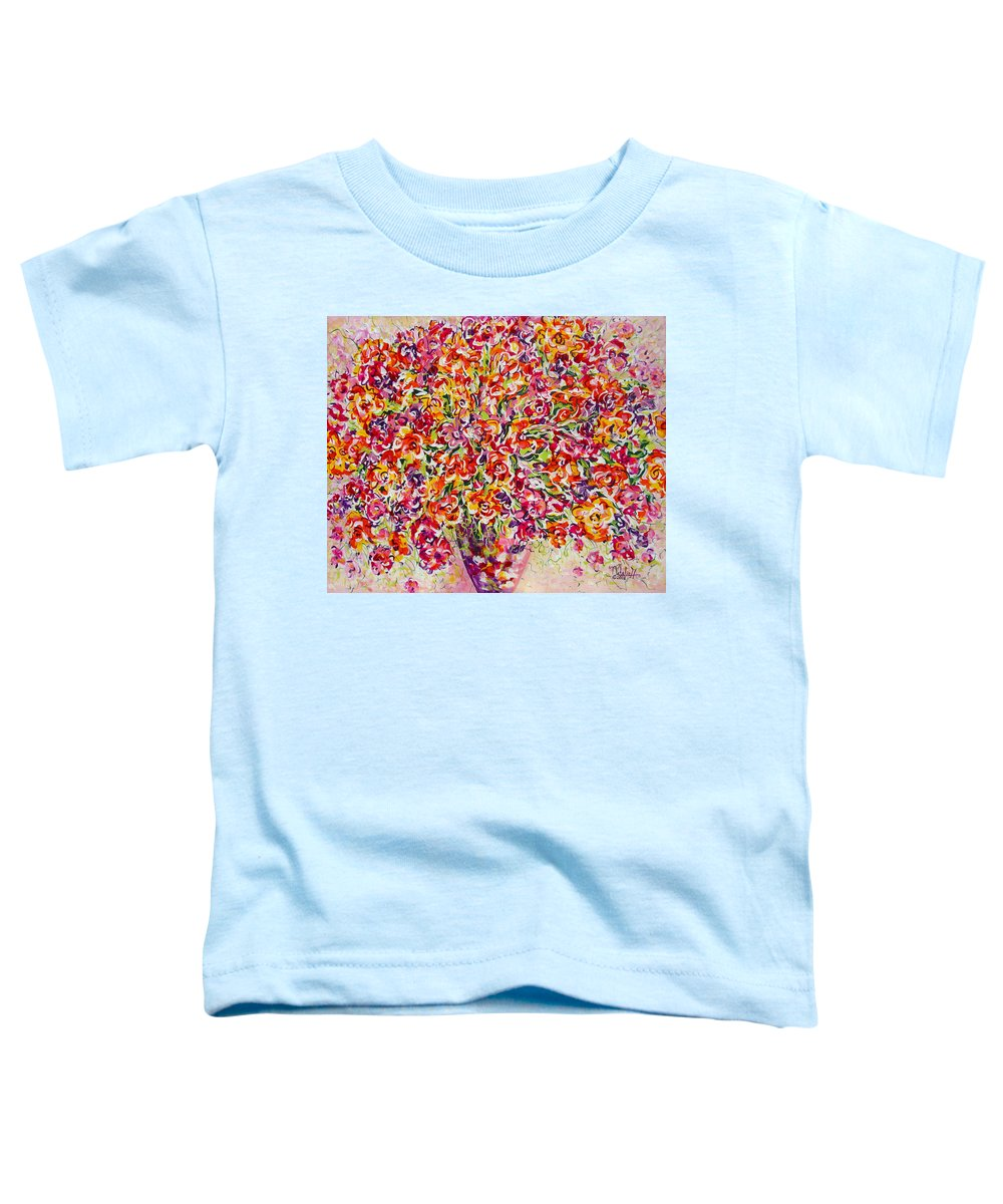 Framed Prints Toddler T-Shirt featuring the painting Colorful Organza by Natalie Holland