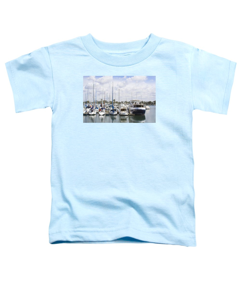 Coronado Toddler T-Shirt featuring the photograph Coronado Boats II by Margie Wildblood
