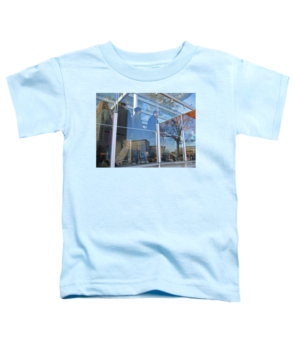 London Toddler T-Shirt featuring the photograph Crowd Queuing Up by Ann Horn