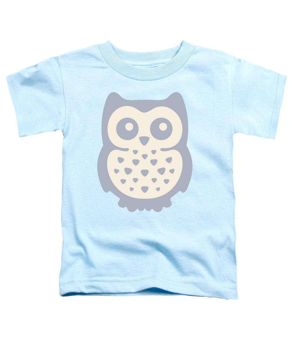 Pastel Toddler T-Shirt featuring the digital art Cute Owl by Julia Jasiczak