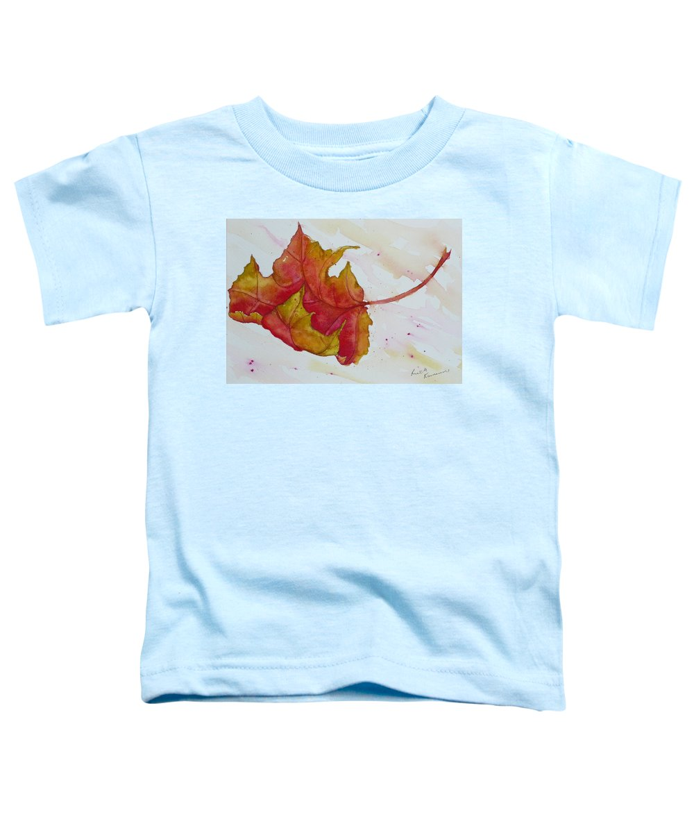 Fall Toddler T-Shirt featuring the painting Descending by Ruth Kamenev