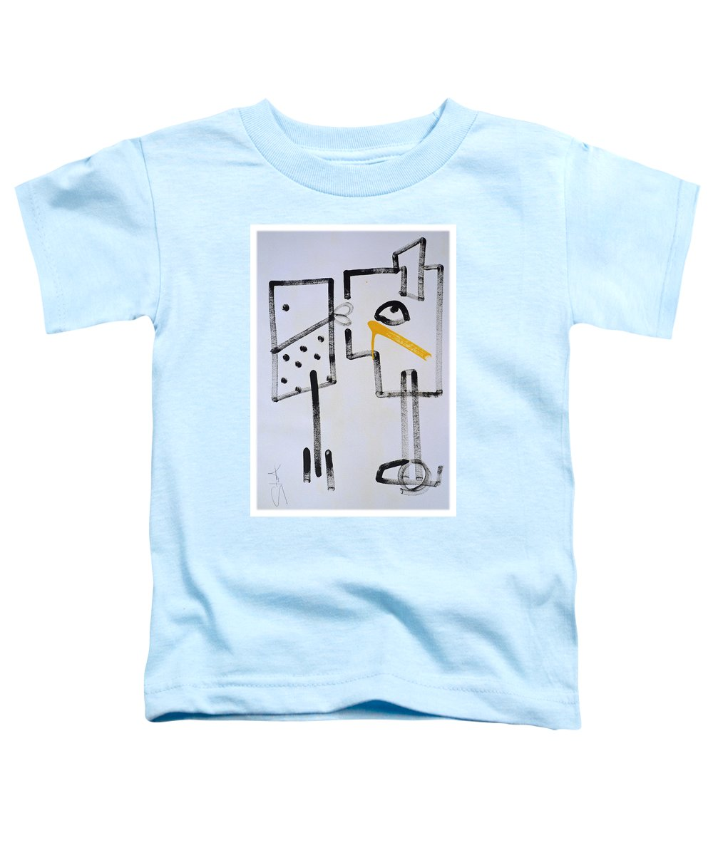 Drawing Toddler T-Shirt featuring the painting Desperados Waiting For A Train by Charles Stuart