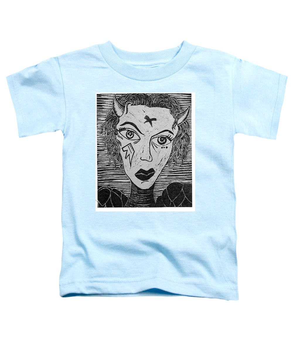 Prints Toddler T-Shirt featuring the print Devil Print Two Out Of Five by Thomas Valentine