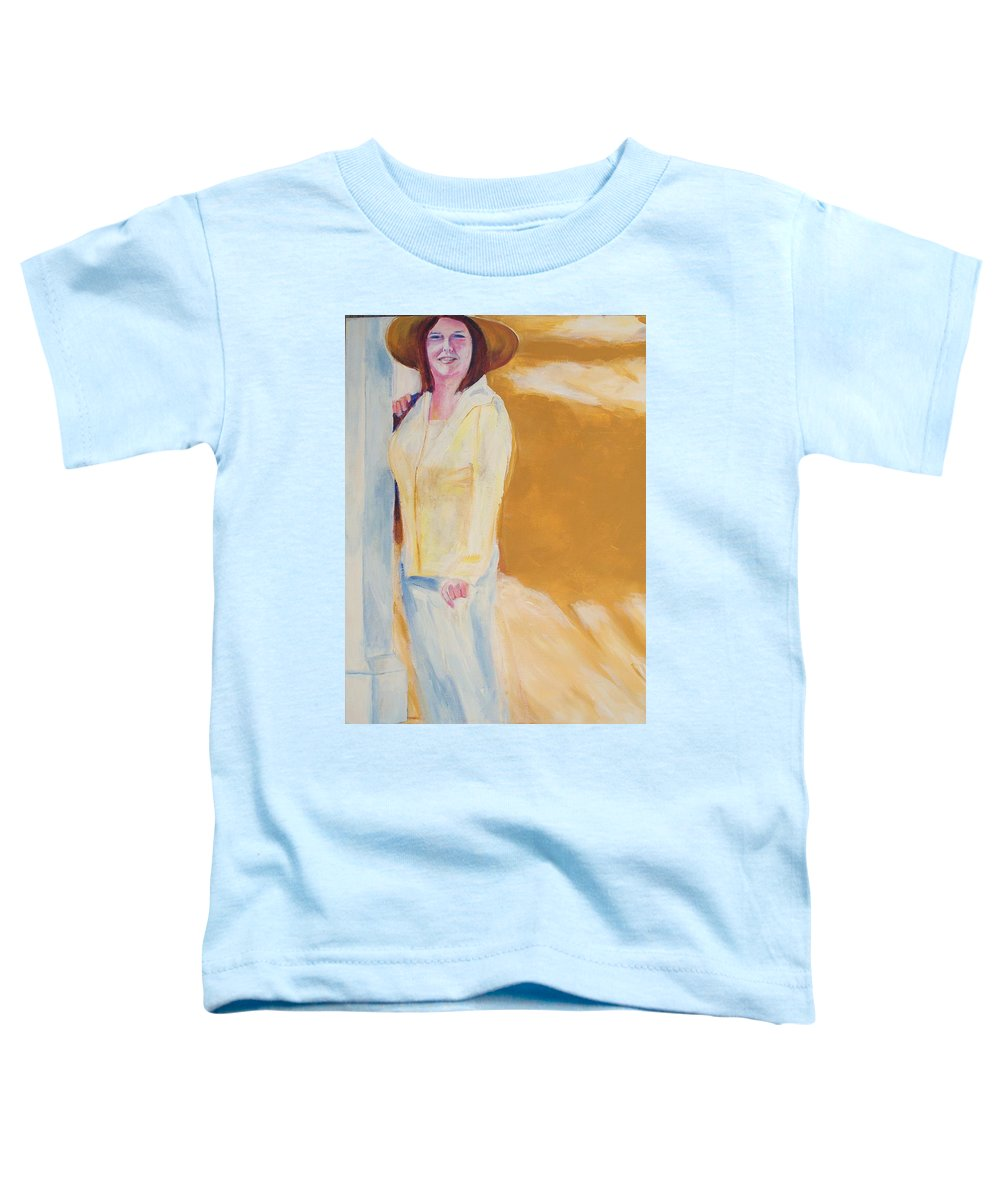 Portraits Toddler T-Shirt featuring the painting Diane by Eric Schiabor