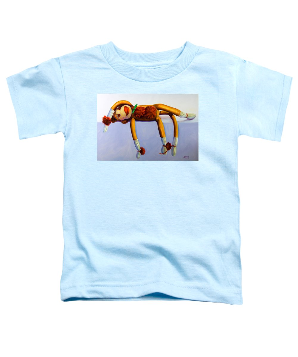 Diva Toddler T-Shirt featuring the painting Diva Made Of Sockies by Shannon Grissom