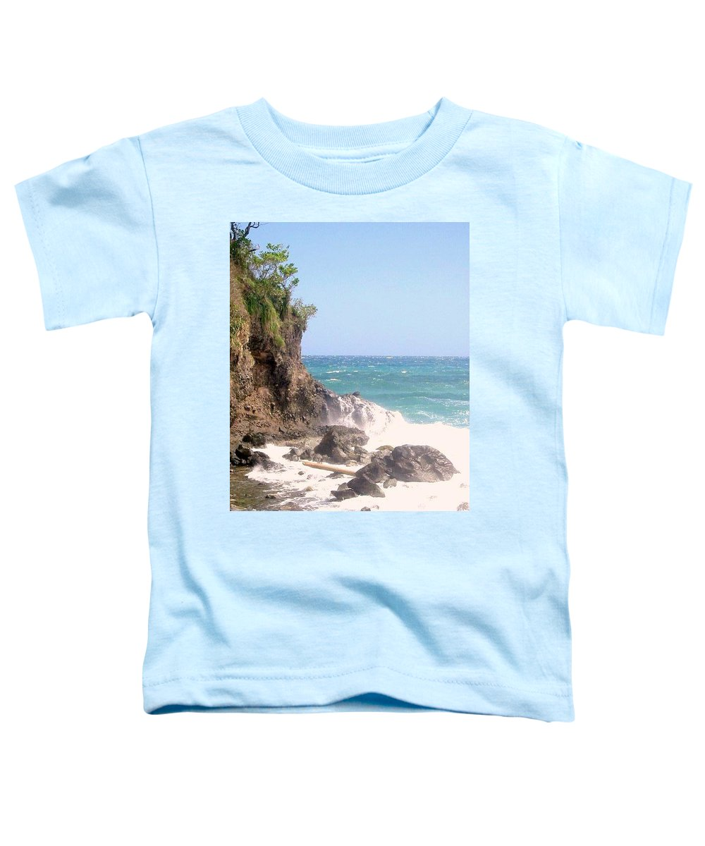Dominica Toddler T-Shirt featuring the photograph Dominica North Atlantic Coast by Ian MacDonald