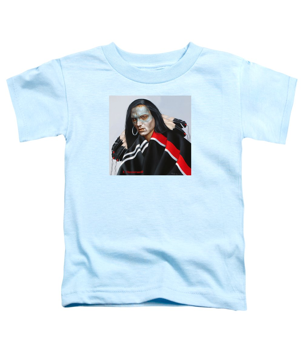 American Indian Toddler T-Shirt featuring the painting Dream Within A Dream by K Henderson
