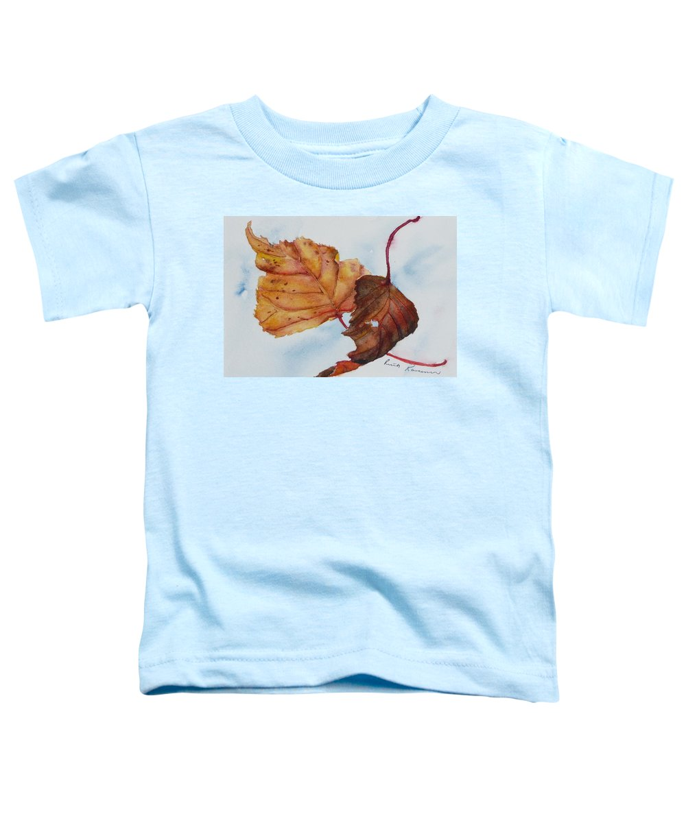 Fall Toddler T-Shirt featuring the painting Drifting by Ruth Kamenev
