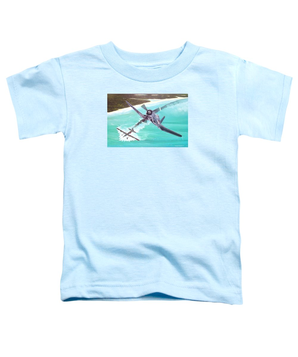 Military Toddler T-Shirt featuring the painting Duel Over New Georgia by Marc Stewart