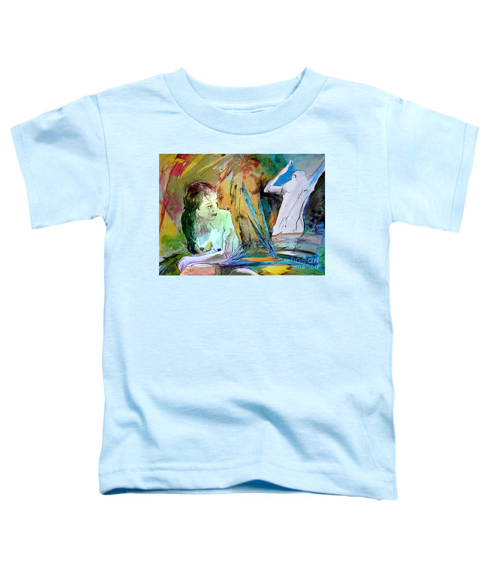 Miki Toddler T-Shirt featuring the painting Eroscape 15 1 by Miki De Goodaboom