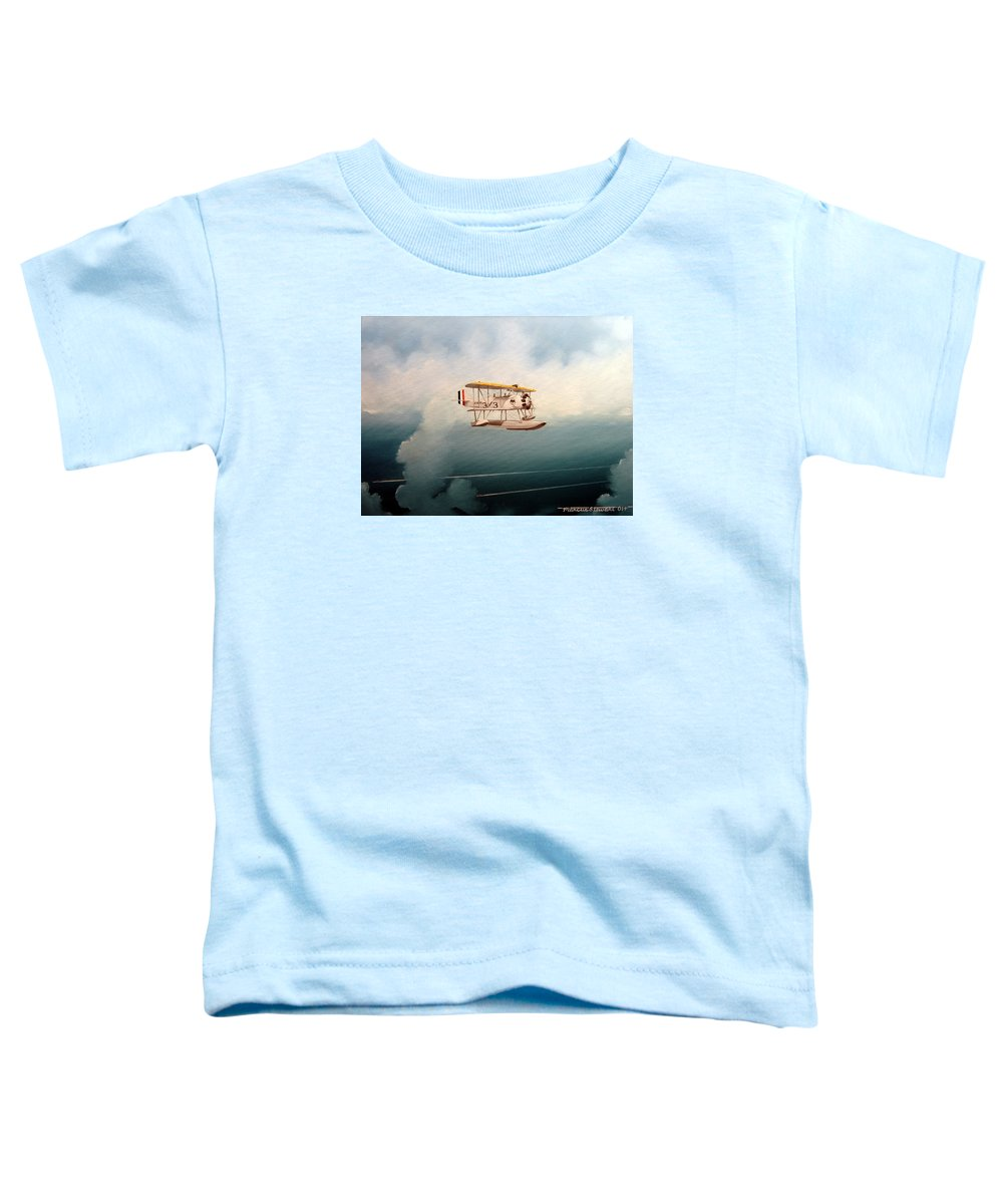 Military Toddler T-Shirt featuring the painting Eyes Of The Fleet by Marc Stewart