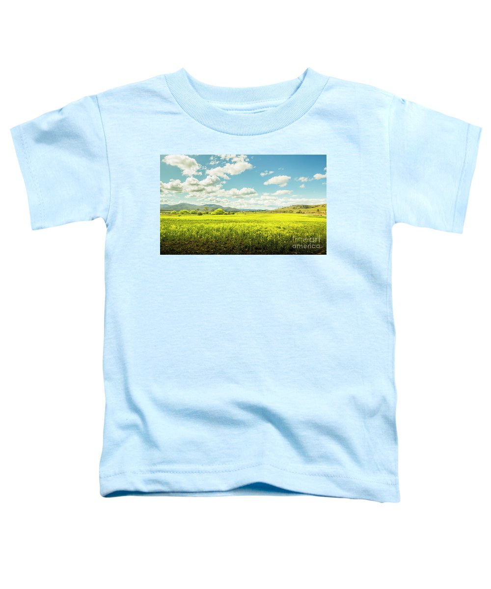 Plain Toddler T-Shirt featuring the photograph Farmland Colour by Jorgo Photography - Wall Art Gallery