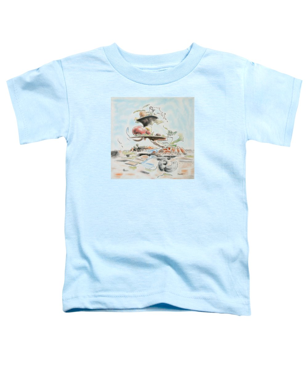 Abstract Toddler T-Shirt featuring the painting Fast Food by Dave Martsolf