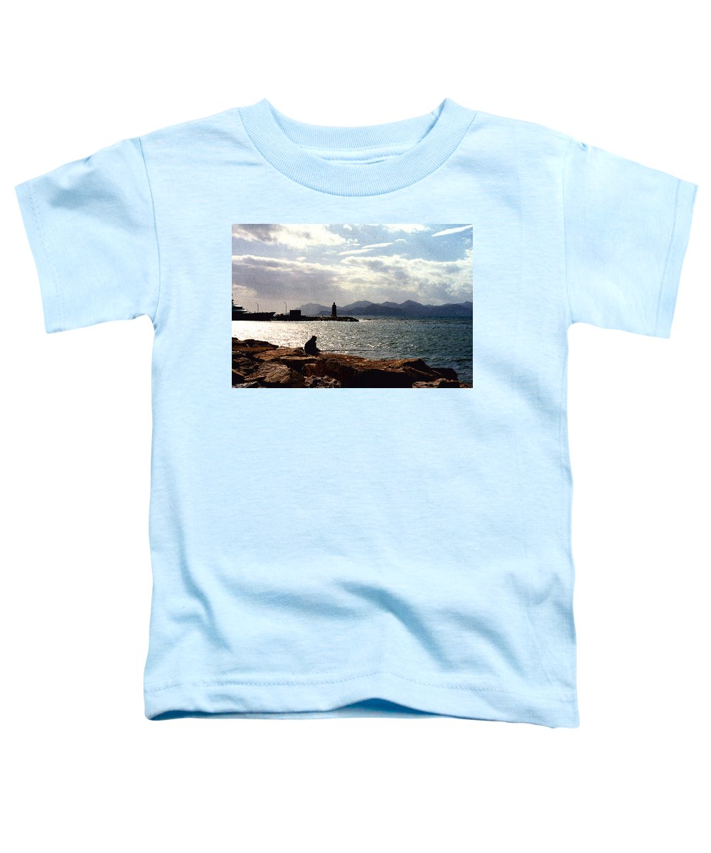 Fisherman Toddler T-Shirt featuring the photograph Fisherman In Nice France by Nancy Mueller