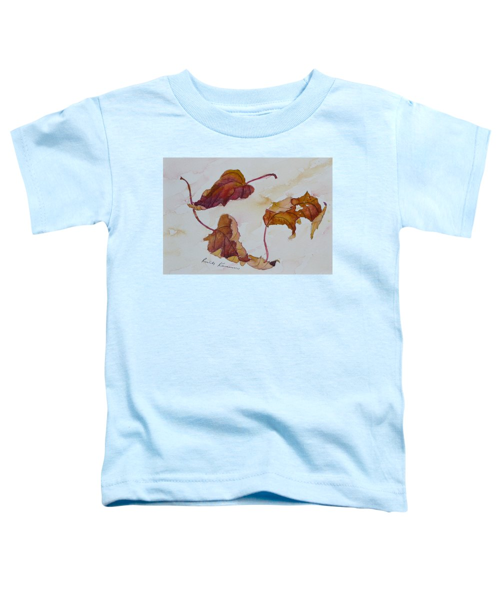 Fall Toddler T-Shirt featuring the painting Floating by Ruth Kamenev