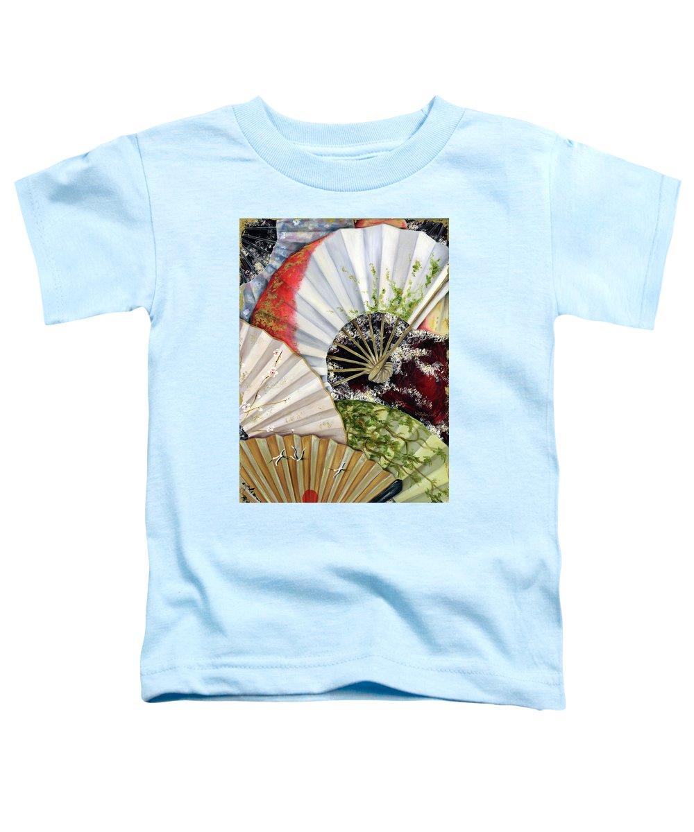 Japanese Toddler T-Shirt featuring the painting Flower Garden by Hiroko Sakai
