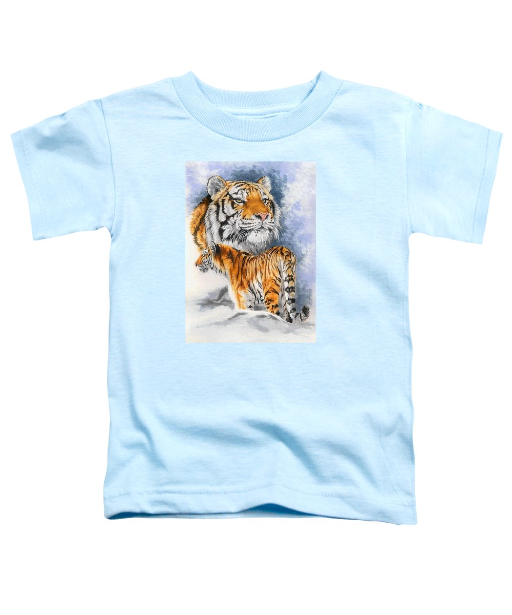 Big Cats Toddler T-Shirt featuring the mixed media Forceful by Barbara Keith