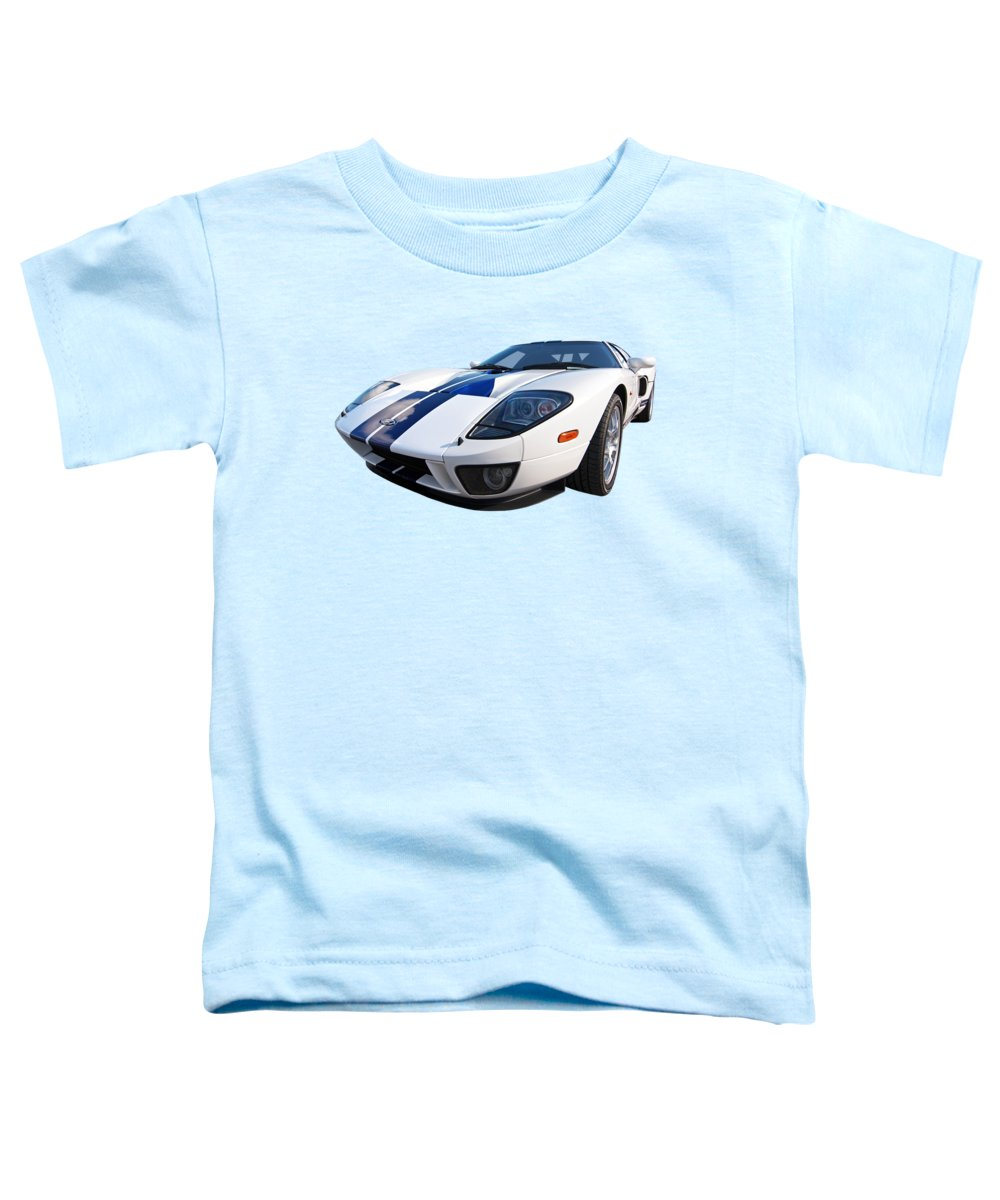 Ford Gt40 Toddler T-Shirt featuring the photograph Ford Gt 2005 by Gill Billington
