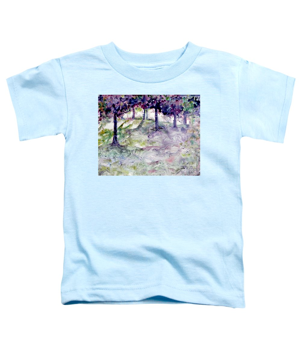 Fastasy Toddler T-Shirt featuring the painting Forest Fantasy by Jan Bennicoff