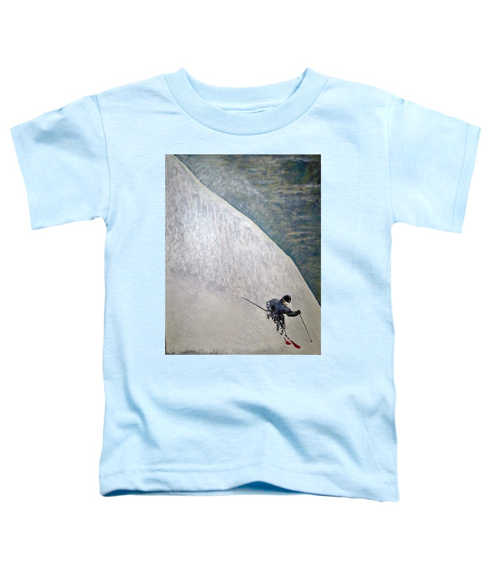 Landscape Toddler T-Shirt featuring the painting Form by Michael Cuozzo