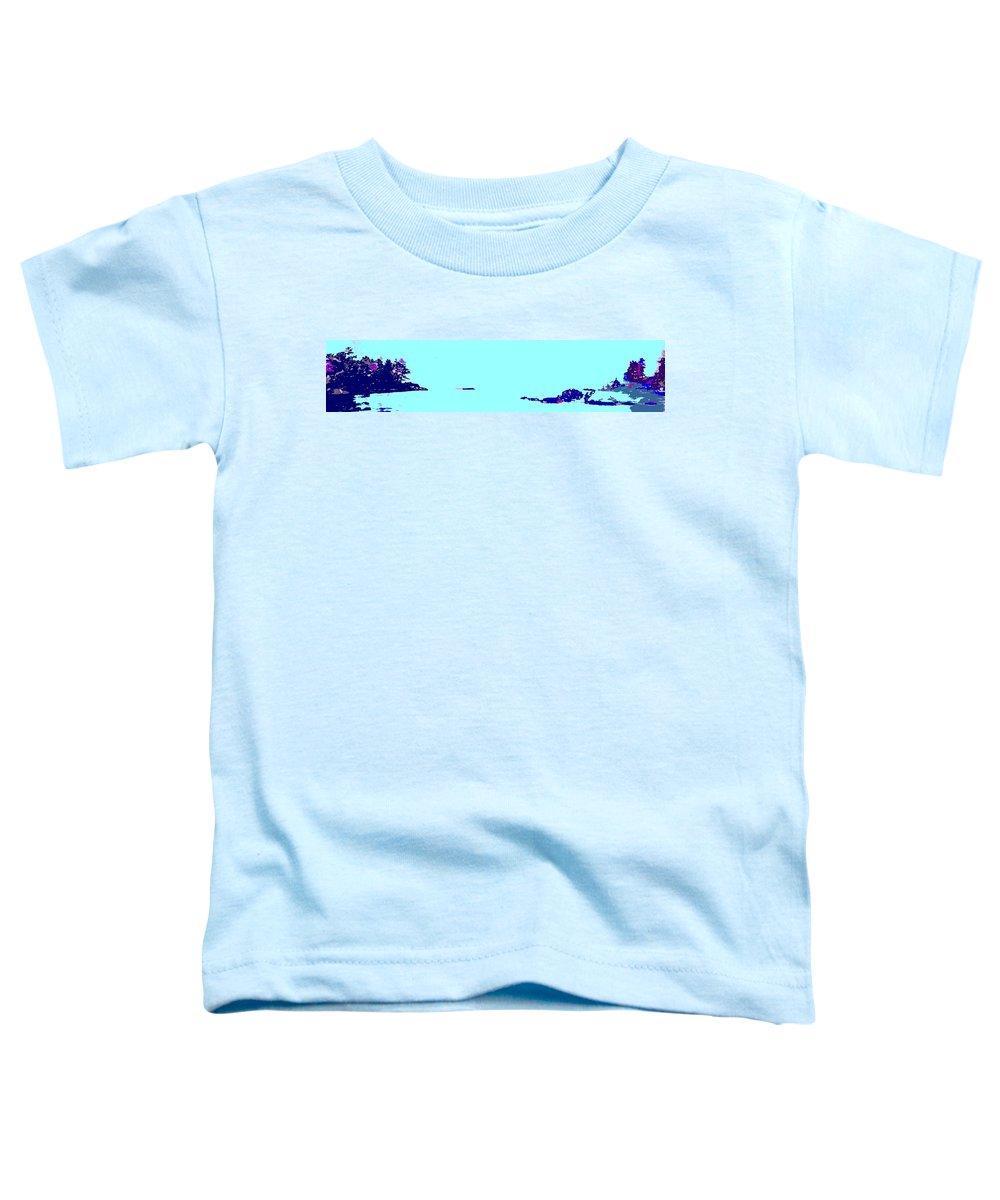 Toddler T-Shirt featuring the photograph Georgian Bay Blue by Ian MacDonald