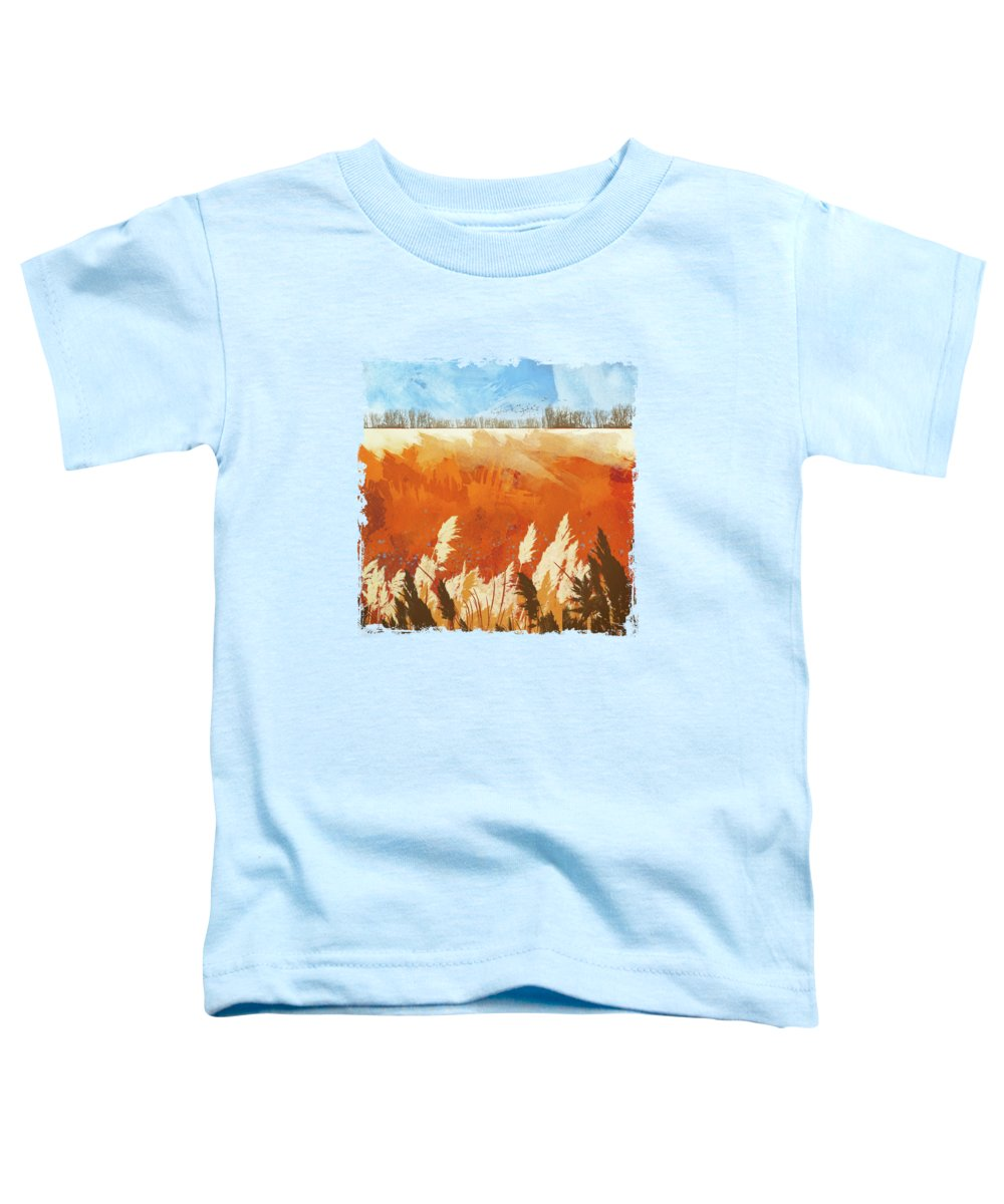 Gold Toddler T-Shirt featuring the digital art Golden Afternoon by Katherine Smit
