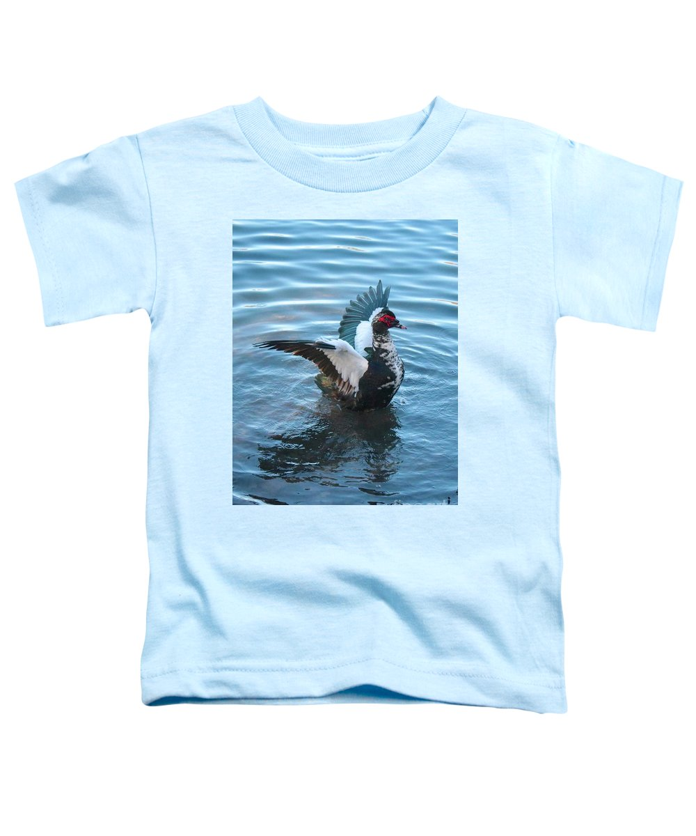 Muscovy Duck Toddler T-Shirt featuring the photograph Graceful Muscovy Duck by Carol Groenen