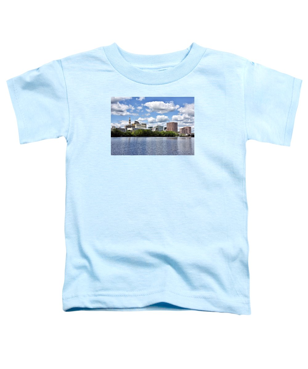 hartford Connecticut Toddler T-Shirt featuring the photograph Hartford Connecticut - Skyline by Brendan Reals