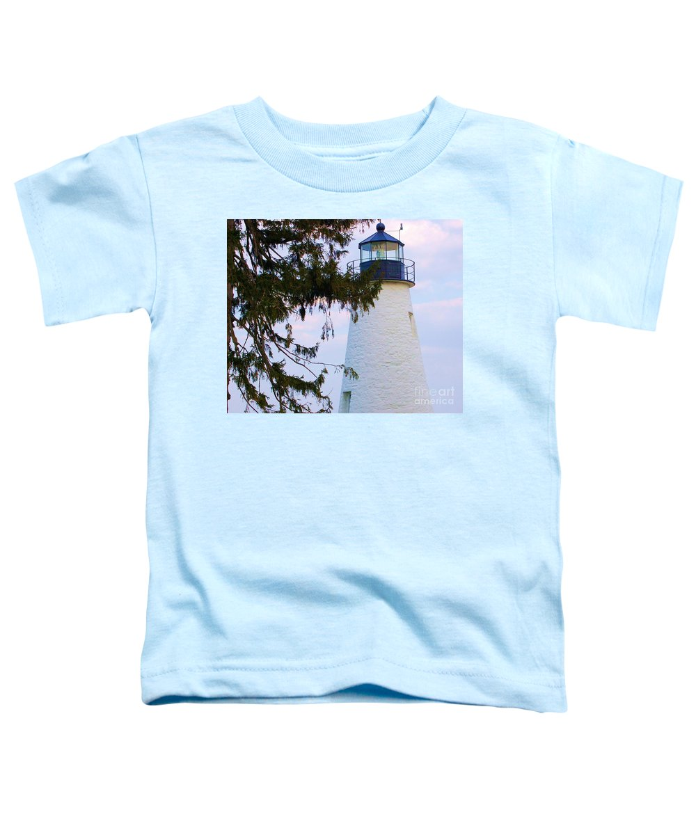 Lighthouse Toddler T-Shirt featuring the photograph Havre De Grace Lighthouse by Debbi Granruth