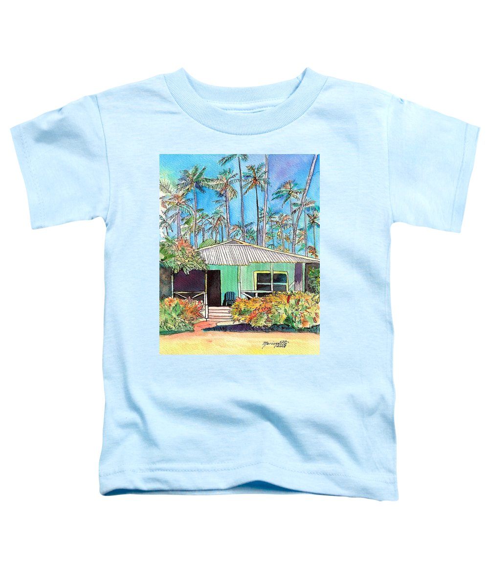 Cottage Toddler T-Shirt featuring the painting Hawaiian Cottage I by Marionette Taboniar