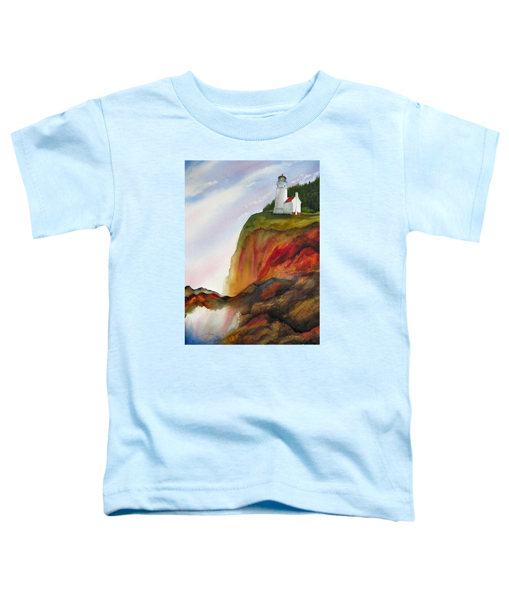 Coastal Toddler T-Shirt featuring the painting High Ground by Karen Stark