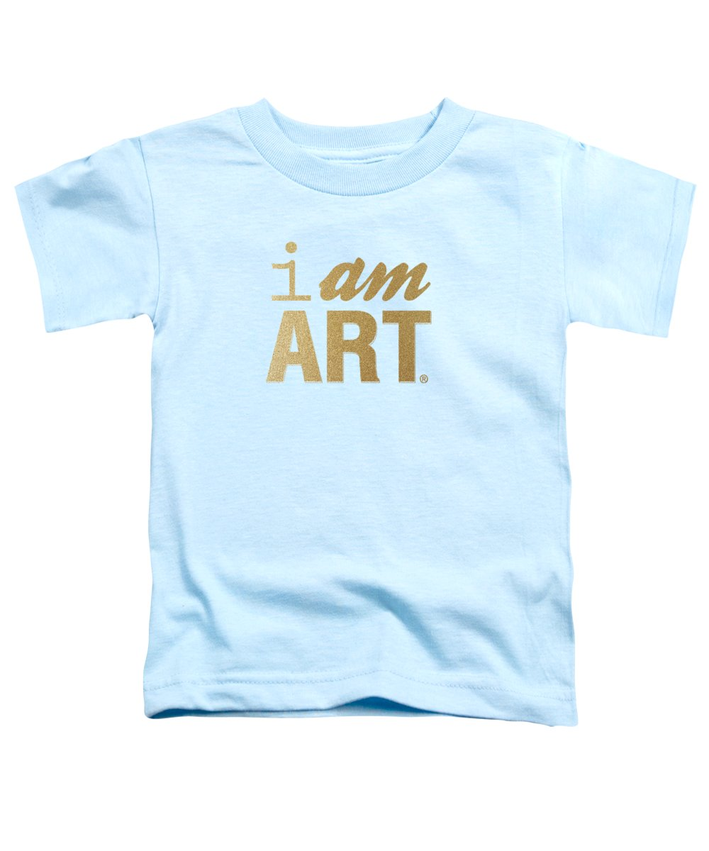 I Am Art Toddler T-Shirt featuring the mixed media I Am Art- Gold by Linda Woods