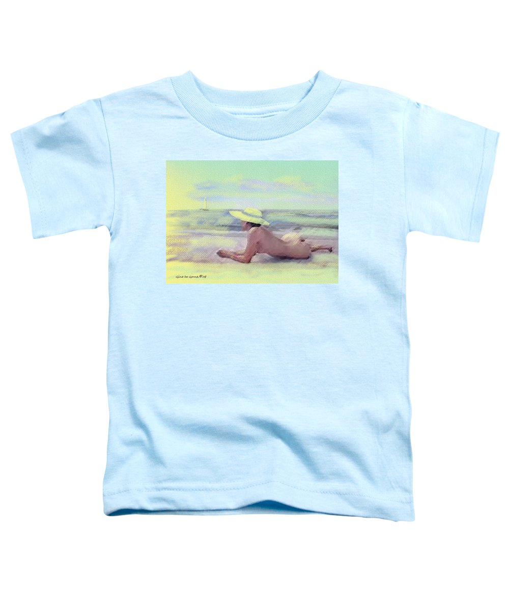Original Art Toddler T-Shirt featuring the pastel Imagine by Gina De Gorna