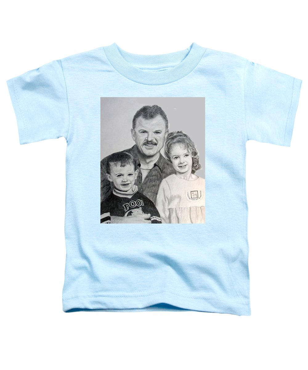 Portrait Toddler T-Shirt featuring the drawing John Megan And Joey by Stan Hamilton