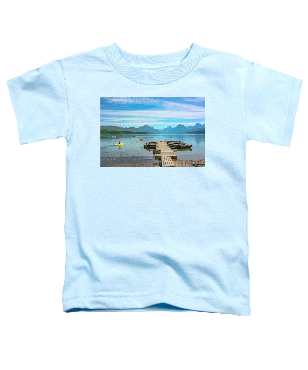 Montana Toddler T-Shirt featuring the photograph July 4th on Lake McDonald by Bryan Spellman