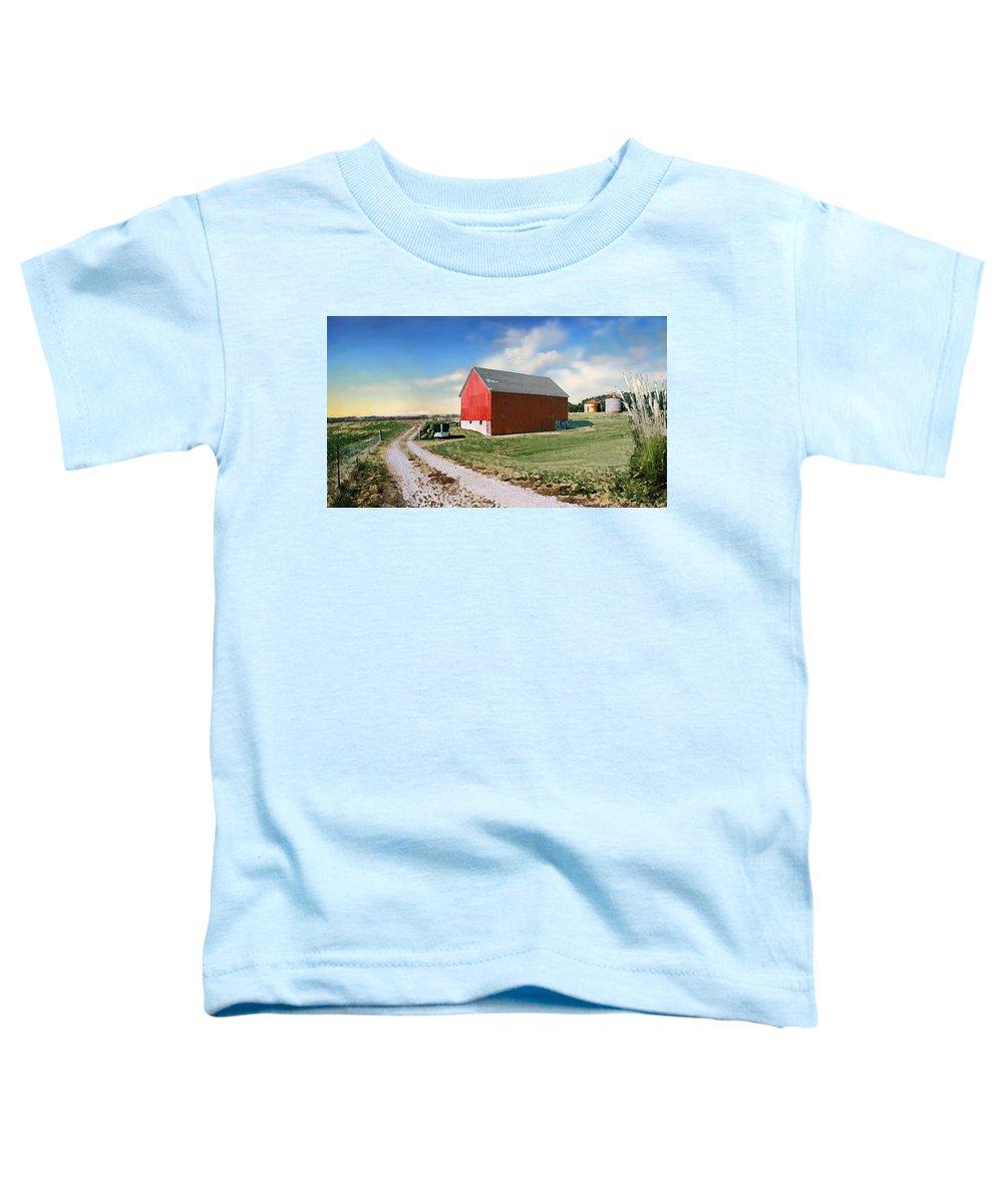 Barn Toddler T-Shirt featuring the photograph Kansas Landscape II by Steve Karol