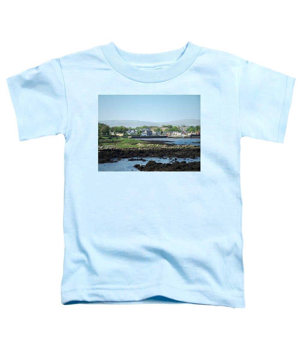 Irish Toddler T-Shirt featuring the photograph Kinvara Seaside Village Galway Ireland by Teresa Mucha